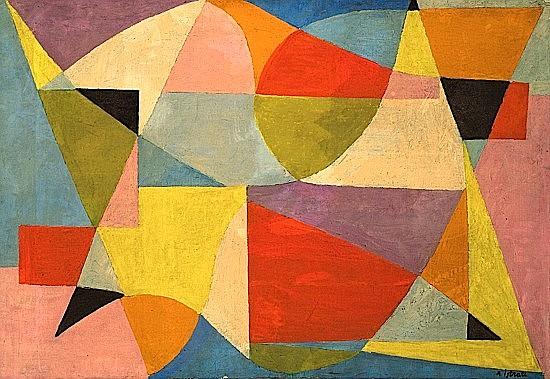 Alexandre ISTRATI (1915-1991) COMPOSITION, 1949 huile sur toile