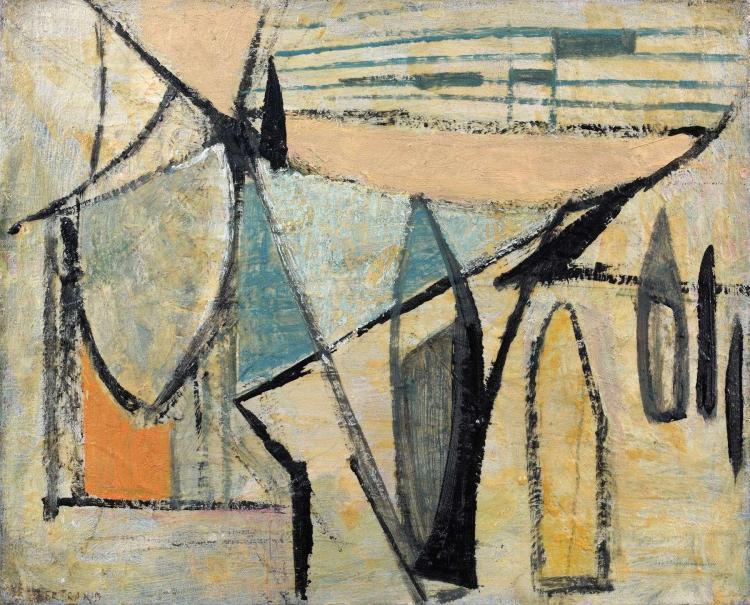 Huguette ARTHUR BERTRAND (née en 1922) JOCKEY, 1948 Huile sur toile