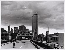 JS CARTIER  West side Highway, Canal St. Bridge et World Trade Center - 1977 Tirage argentique sur papier baryté mat