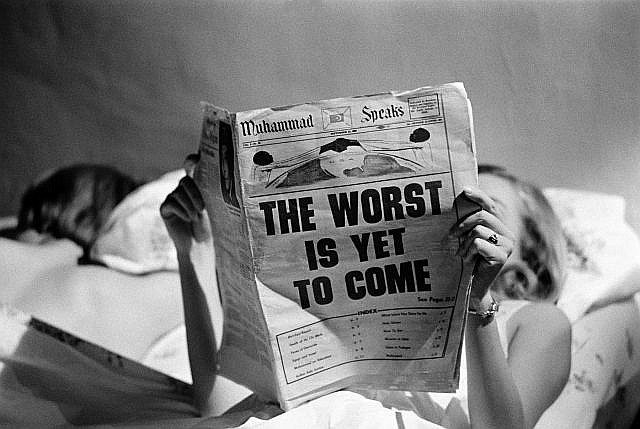 Steve SCHAPIRO (Né en 1934) The Worst is Yet to Come, New York, 1968 Tirage argentique postérieur monté sur aluminium