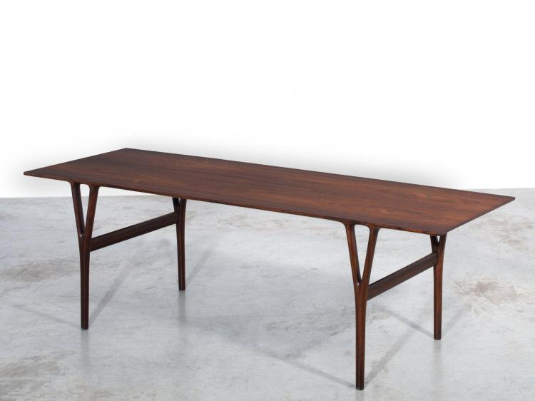 Helge vestegaard jensen 1917 1987 table basse 1955 pi te - Table basse palissandre ...