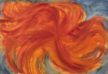 Jean MESSAGIER (1920 - 1999) PAYSAGE CLITOCYBE - Circa 1967 Huile sur toile