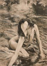 Cris BRODAHL (Né en 1963) THE BRIDGE Huile sur toile