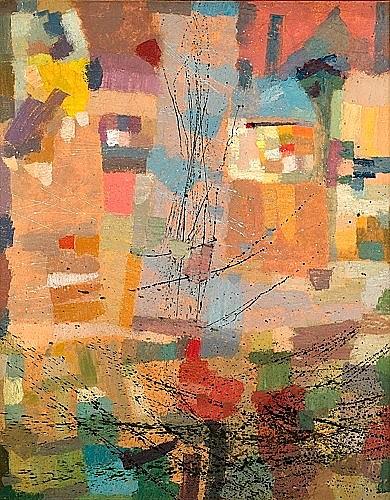 Camille BRYEN (1907-1977) NUMERO 632, février 1971 Huile sur toile
