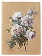 Anne Vallayer-Coster Paris, 1744 - 1818 Bouquet de roses Aquarelle gouachée, Anne Vallayer-Coster, Click for value
