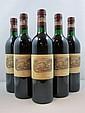 5 bouteilles CHÂTEAU LAFITE ROTHSCHILD 1986 1er GC Pauillac (base goulot