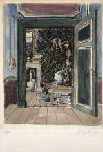 Paul DELVAUX (1897-1994) Le pays des miroirs (1 planche) - 1978