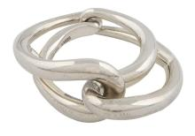HERMÈS  Bague LOOPING Argent 925/1000 Poids : 10,5 g Taille : 51  LOOPING ring Silver 925/1000 Weight : 10,5 g S...
