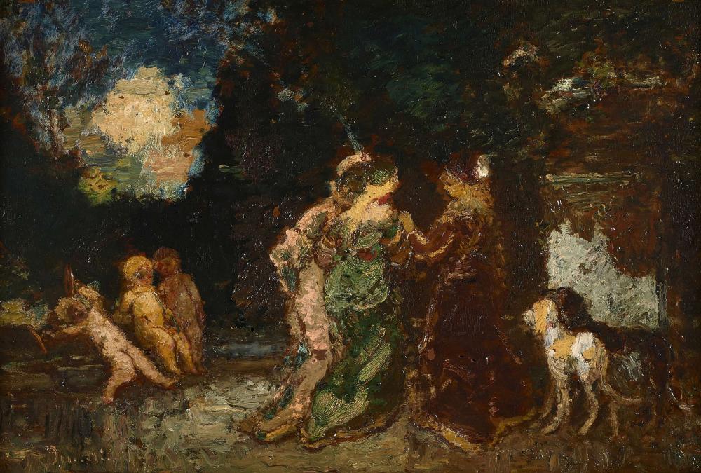 Sold Price: Adolphe MONTICELLI Marseille, 1824 - 1886 La leçon d'amour dans  un parc Huile sur panneau d'acajou, une planche, - September 2, 0119 2:00  PM CEST