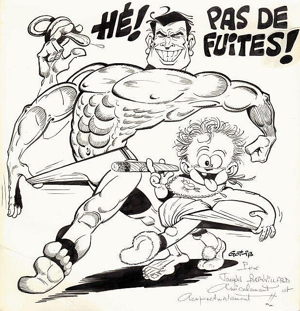 GOTLIB ( Marcel Gotlieb dit) Né en 1934 PAS DE FUITES!