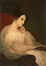 Ary Scheffer Dordrecht, 1795 - Argenteuil, 1858 Portrait de Marie-Joséphine Souham, duchesse d'Elchingen Huile sur toile