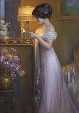 Delphin Enjolras Coucouron, 1857 - Toulouse, 1945 La lecture Pastel
