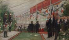 Henri Gervex Paris, 1852 - 1929 Le président Loubet en visite au congrès des maires de France Huile sur toile