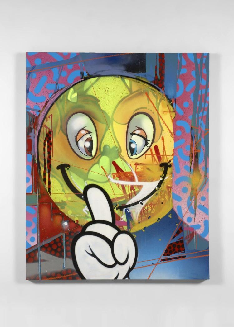 AROE Anglais - Né en 1970 Bambi murders - 2016 Peinture aérosol sur toile