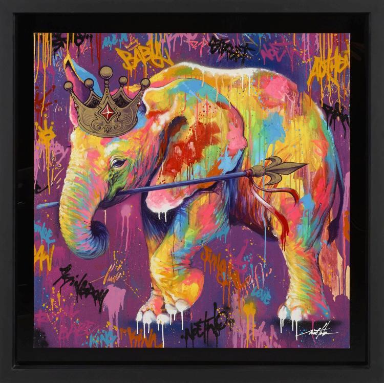 Noe two fran ais n en 1974 royal jumbo 2015 peinture a for Peinture acrylique sur toile