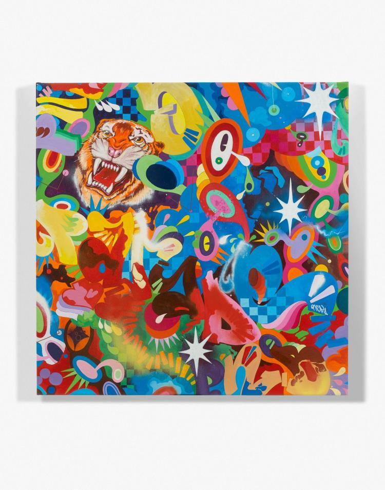 Rcf1 fran ais n en 1968 parade 2008 acrylique et peintu for Peinture acrylique sur toile