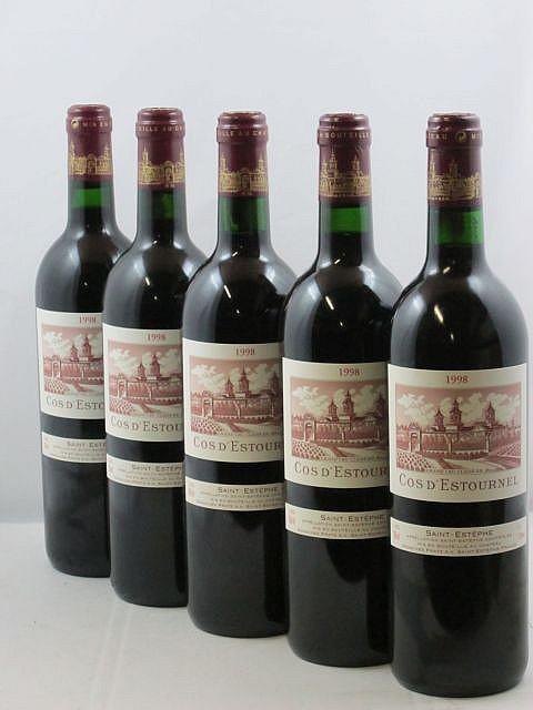 5 bouteilles CHÂTEAU COS D'ESTOURNEL 1998 2è GC Saint Estèphe