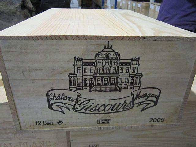 12 bouteilles CHÂTEAU GISCOURS 2009 3è GC Margaux Caisse bois d'origine