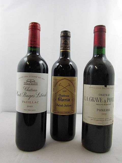 12 bouteilles 5 bts : CHÂTEAU GLORIA 2009 CB Saint Julien