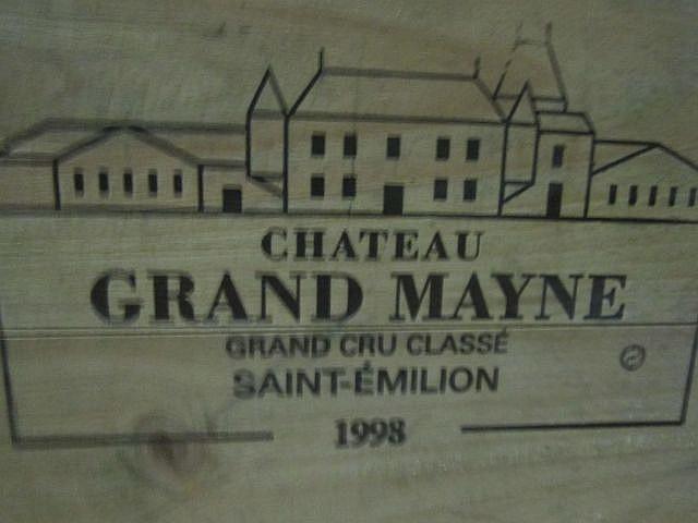 3 magnums CHÂTEAU GRAND MAYNE 1998 GCC Saint Emilion Caisse bois d'origine