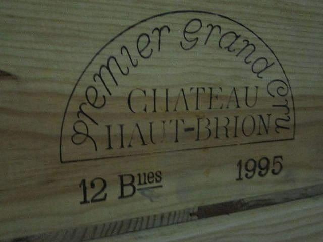 12 bouteilles CHÂTEAU HAUT BRION 1995 1er GC Pessac Léognan Caisse bois d'origine