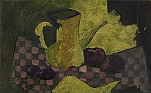 Georges BRAQUE (Argenteuil, 1882 - Paris, 1963) NATURE MORTE, 1957 Huile sur toile de jute