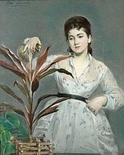Eva GONZALES (Paris, 1849 - Paris, 1883) LA PLANTE FAVORITE, circa 1871-1872 Pastel sur papier