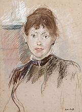 Berthe MORISOT (Bourges, 1841 - Paris, 1895) L'ANGLAISE, 1884 Pastel sur papier
