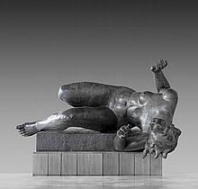 Aristide MAILLOL (Banyuls-sur-Mer, 1861 - Banyuls-sur-Mer, 1944) LA RIVIERE, 1938-1943 Sculpture en plomb