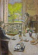 Edouard VUILLARD (Cuiseaux, 1868- La Baule,1940) SCENE D'INTERIEUR Pastel sur papier