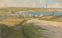 Henri RIVIERE (Paris, 1864 - Sucy-en-Brie, 1951) MORGAT, 1903 Aquarelle et crayon sur papier