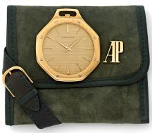 AUDEMARS PIGUET ROYAL OAK, n° B65229, vers 1980 Rare et belle montre de poche en or 18K (750). Boîtier octogonal. Lunette or vis...