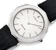 CORUM Réf. 588059, n° 181270, vers 1985 Montre bracelet en or blanc 18K (750). Boîtier dodécagonal. Lunette guillochée