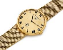 PATEK PHILIPPE IOS, réf. 3562-1, n° 2699852, vers 1960 Montre bracelet en or 18K (750). Boîtier rond. Fond de boîte gravé