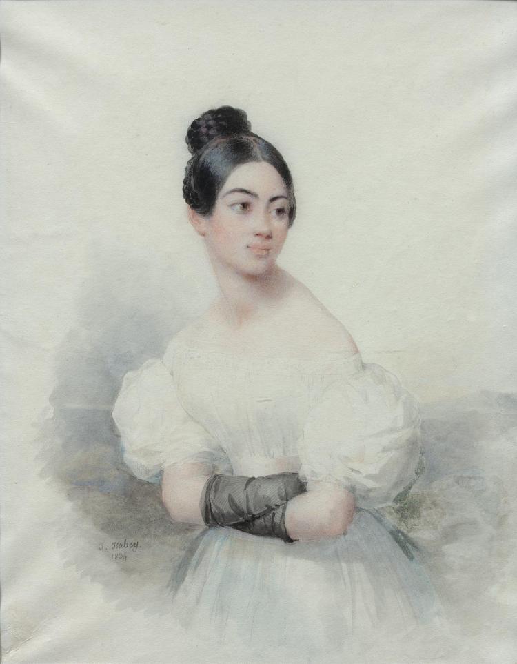 jean baptiste isabey nancy 1767 paris 1855 portrait de j. Black Bedroom Furniture Sets. Home Design Ideas