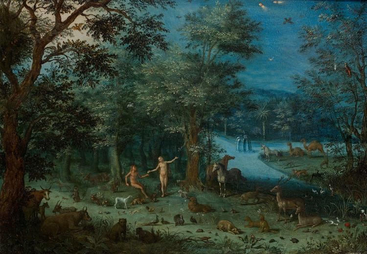 Jacob bouttats works on sale at auction biography - Tableau adam et eve dans le jardin d eden ...
