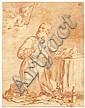 Attribué à Anicet Charles Gabriel Lemonnier Rouen, 1743 - Paris, 1824 La vision de saint Philippe Néri, d'après un maître Sanguine, Anicet-Charles-Gabriel Lemonnier, Click for value