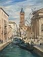 Gustave Alaux Bordeaux, 1887 - Paris, 1965 Le rio de San Barnaba, Venise Huile sur carton, Gustave Louis Michel Alaux, Click for value