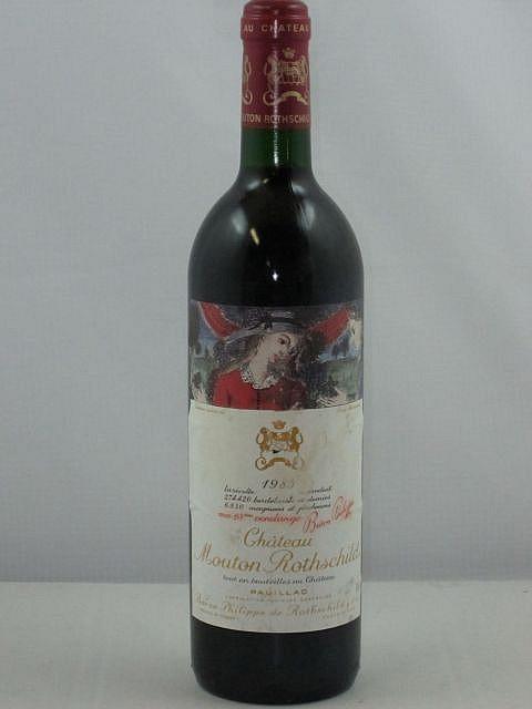 1 bouteille CHÂTEAU MOUTON ROTHSCHILD 1985 1er GC Pauillac (base goulot