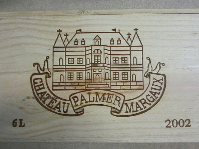 1 impériale CHÂTEAU PALMER 2002 3è GC Margaux Caisse bois d'origine