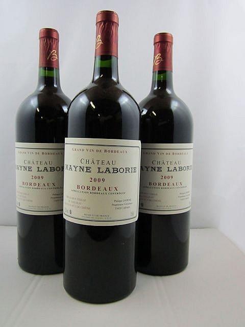3 magnums CHÂTEAU MAYNE LABORIE 2009 Bordeaux