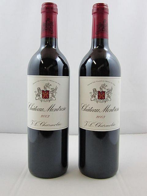 2 bouteilles CHÂTEAU MONTROSE 2003 2è GC Saint Estèphe