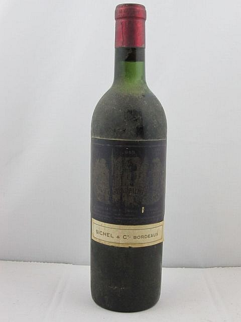 1 bouteille CHÂTEAU PALMER 1955 3è GC Margaux (haute épaule