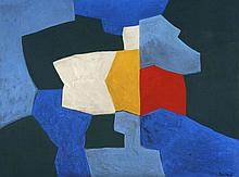 ¤ Serge POLIAKOFF (1900-1969) COMPOSITION, 1967 Huile sur toile