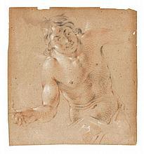 Attribué à Jacob Adriaensz. Baker Harlingen, 1608 - Amsterdam, 1651 Etude d'homme à mi-corps Trois crayons