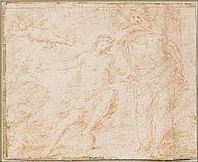 Attribué à Lorenzo Pasinelli Bologne, 1629 - 1700 Allégorie du temps Sanguine
