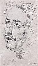Attribué à Charles Parrocel Paris, 1688 - 1752 Portrait du tsar Pierre Ier Crayon noir