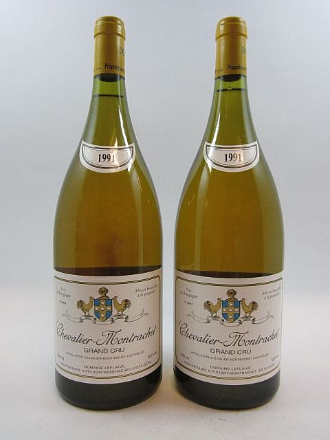 2 magnums CHEVALIER MONTRACHET 1991 Grand Cru