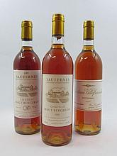 6 bouteilles 1 bt : CHÂTEAU HAUT BERGERON 1985 Sauternes