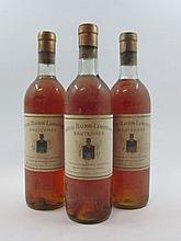 3 bouteilles CHÂTEAU BASTOR LAMONTAGNE 1959 Sauternes (base goulot